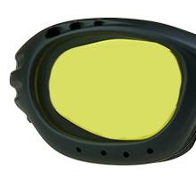 motorcycle biker goggles sun glasses shades yellow night vision lens no halos strap foam blocks wind