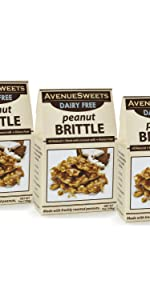 avenue sweets peanut brittle dairy free vegan peanut brittle candy plant based candy vegan candy