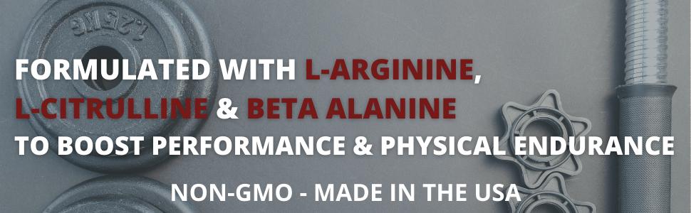 L-Arginine pre workout supplement