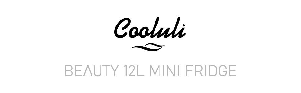 cooluli portable thermoelectric beauty 12 liter mini fridges skincare cosmetics perfume make-up 12L