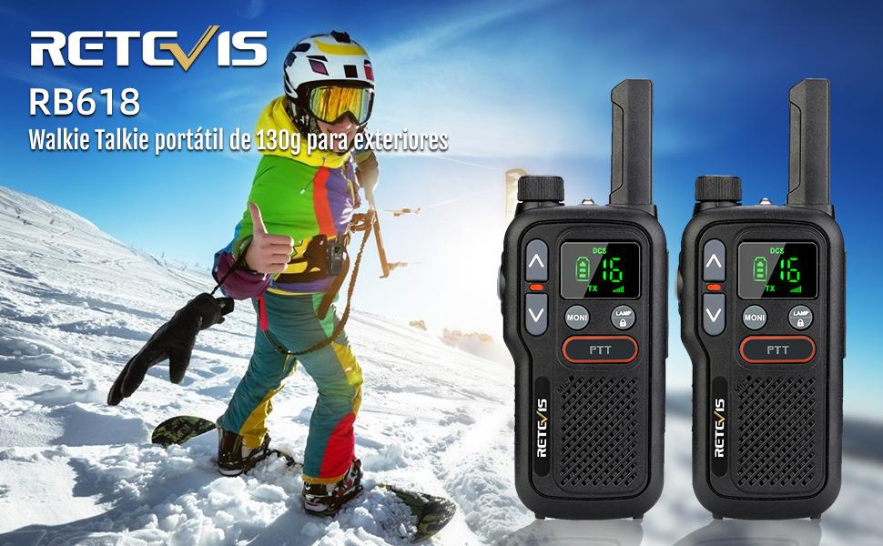 rb618 130g portátil walkie talkie