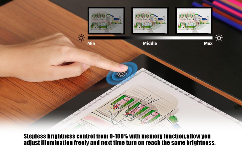 Tablette Lumineuse A2 Magnetique Avec Luminosite Led Reglable