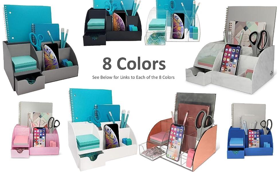 Desk Organizer - 8 color options