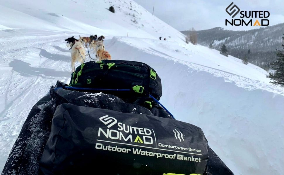 fleece dog travel plush outdoor mat waterproof pet camping large thermal warm throw sled snow