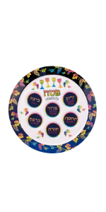 colorful Seder Plate