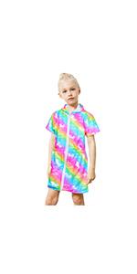 Rainbow Unicorn Dinosaur Swimwear Cover Up