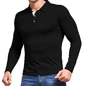 mens polo shirt long sleeve