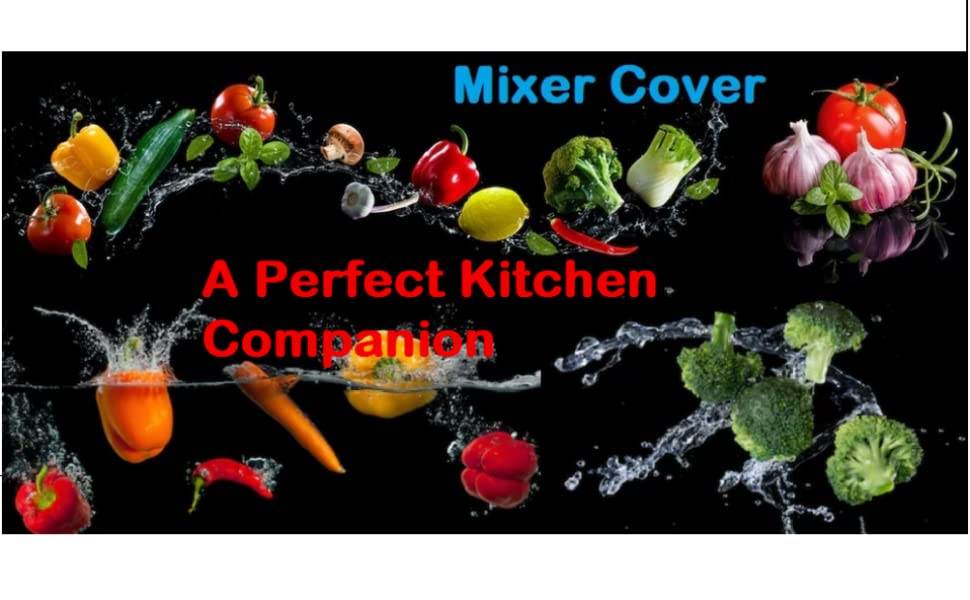 Mixer Cover (Red) Protects your valuable Mixers from Dust, Dirts and Oil Spills in the Kitchen.