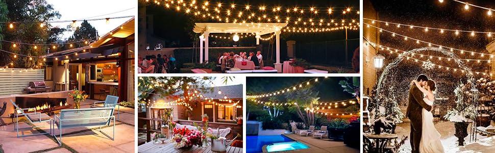 warm white outdoor string lights