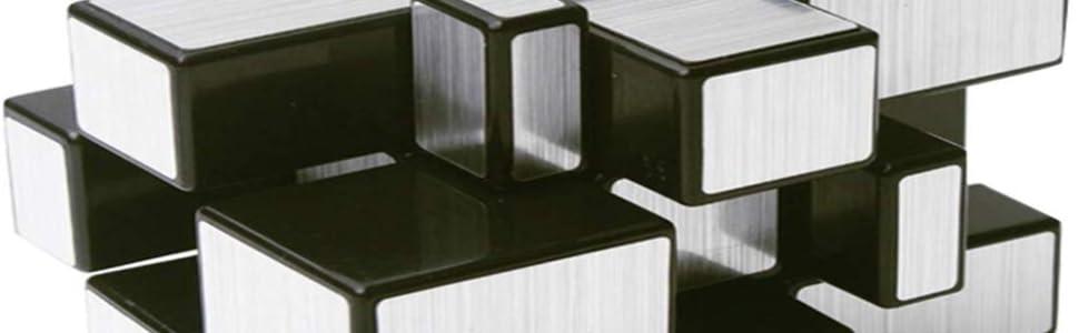 mirror cubes cube 3x3 high speed rubiks silver rubix stickerless rubic puzzle negi qiyi toy rubik
