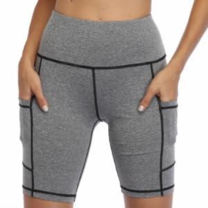 women yoga short with pockets