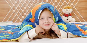 BUZIO Kids Weighted Blanket Blue Dinosaur Park