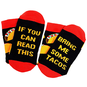 Amazon.com: Moyel Taco Food Socks For Women, If You Can Read This Socks,  Taco Gifts: Clothing