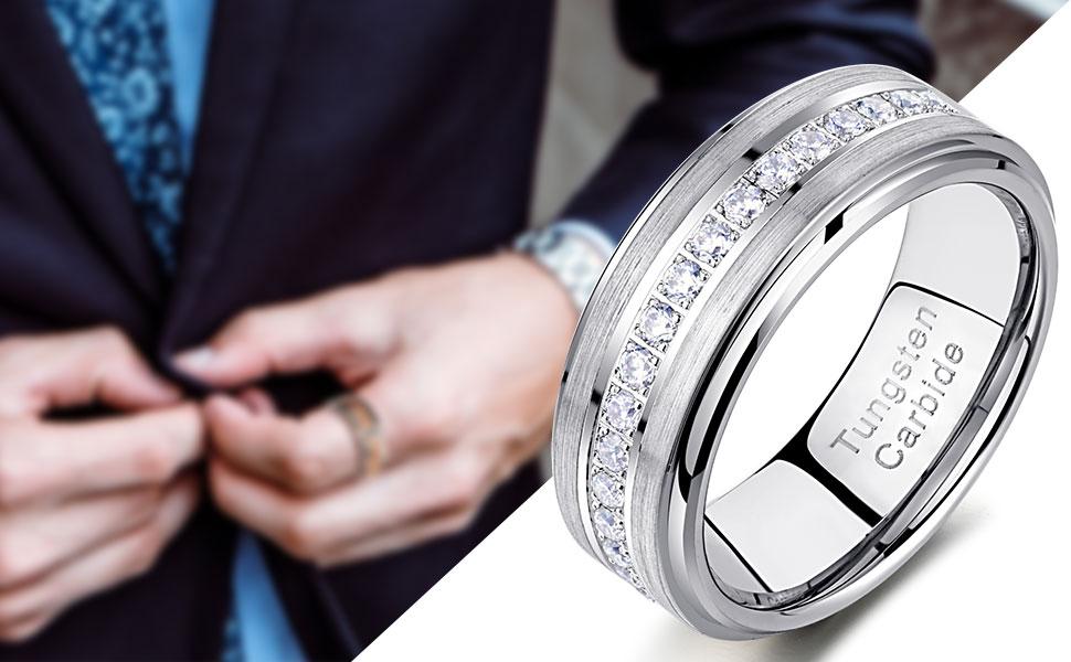 tungsten carbide bands for men men's rings
