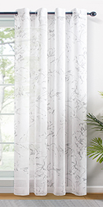 floral sheer curtains