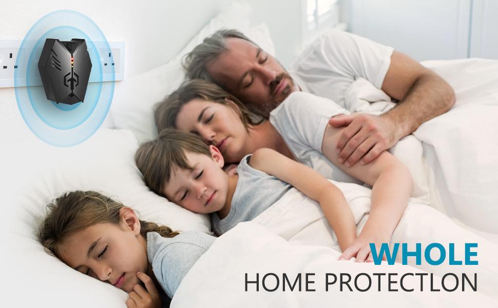 Ultrasonic Pest Repeller for family sleeping