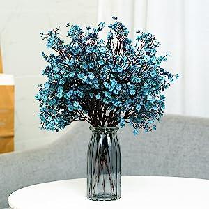 Babys Breath Fabric Cloth Artificial Flowers 6 Bundle European Fake Silk Plants Decor Wedding Party
