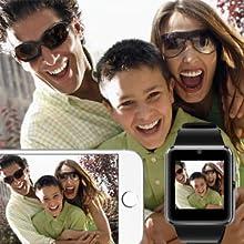 Montre Connectée Smartwatch Femmes Homme Enfant Podometre Carte Sim de Soutien Carte de TF Caméra
