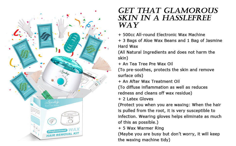 bead wax hair removal kit