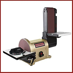 BUCKTOOL | BD4801 Bench Belt Sander 4 in. x 36 in | Belt and 8 in. Disc Sander with 3/4HP Direct-drive Motor
