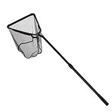 Folding Aluminum Fishing Landing Net Fish Net with Extending Telescoping Pole Handle(44-60 inches)