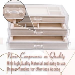 jewelry box organizer quality