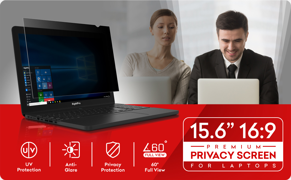 Privacy Protector for SightPro 12.5 inch Laptop Privacy Screen Filter Black