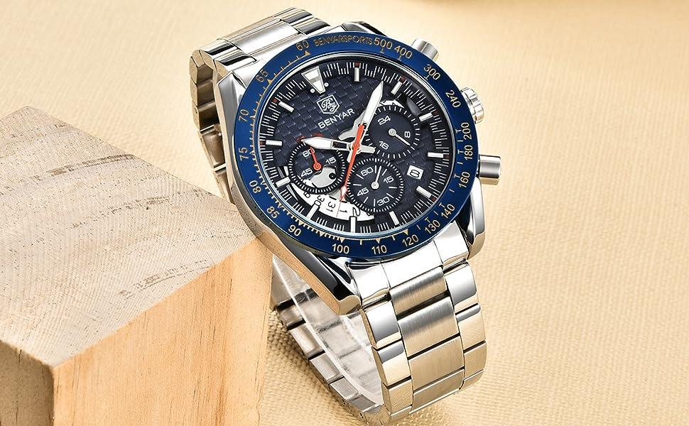 benyar watch men timepiece