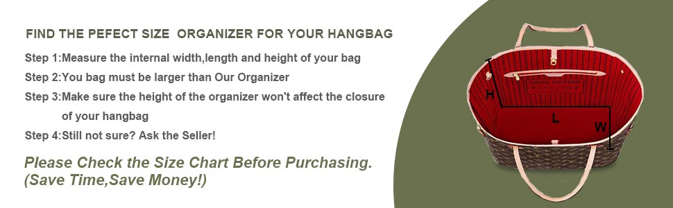 Find the pefect size for your handbag