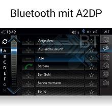 ZENEC Z-E2055 für VW mit Cluetooth für Freisprechen / Telefonieren und A2DP Musikstreaming