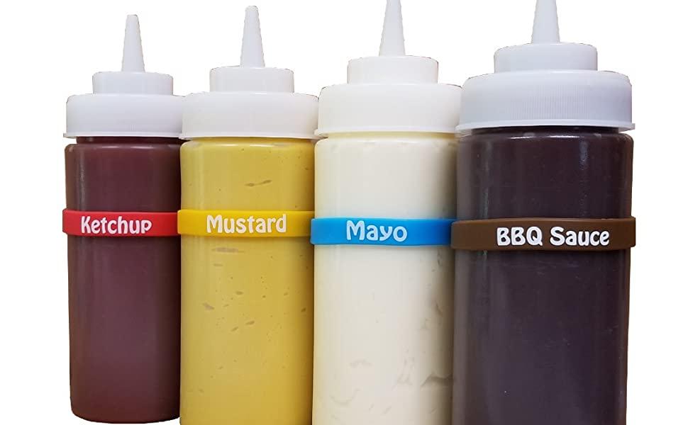 condiment squeeze bottle labels restaurant supply squirt reusable