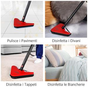 imbottiture laminate girevole a 180/° per tappeti e pavimenti divani cavo di alimentazione 4,8 m cucine Scopa a vapore con 11 accessori finestre fornelli SIMBR piastrelle
