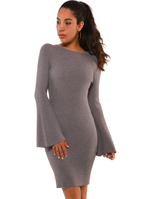 grey slimming dress