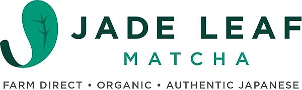 jade leaf matcha logo, matcha leaf, organic