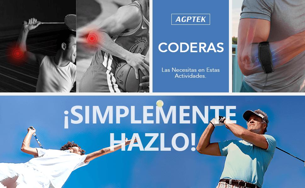 AGPTEK 2 x Cinta de Codo Tenista, Coderas de Golfista Ajustable y ...