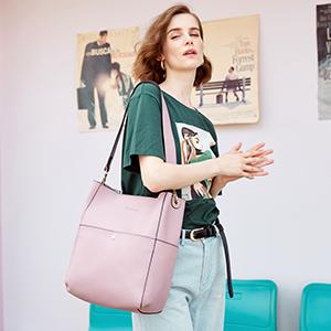 BOSTANTEN Women's Leather Designer Handbags Tote Purses