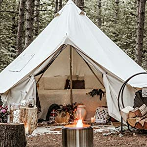 top grade canvas bell tent with stove
