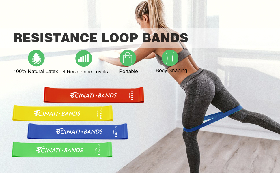 Resistance band set exercise bands for women