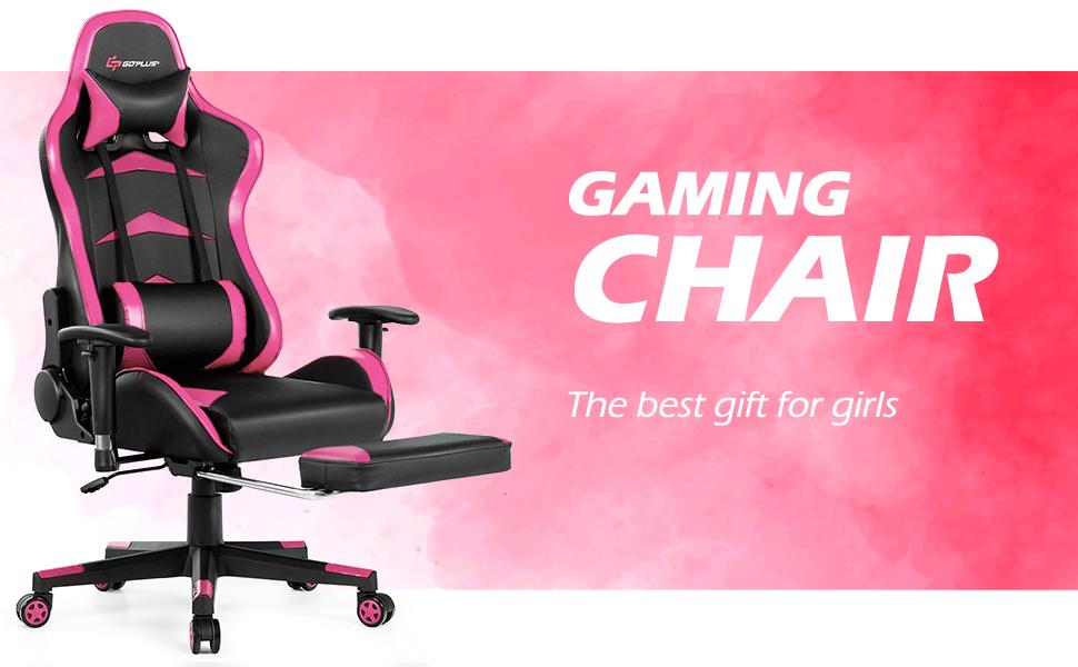 gaming desk pink message