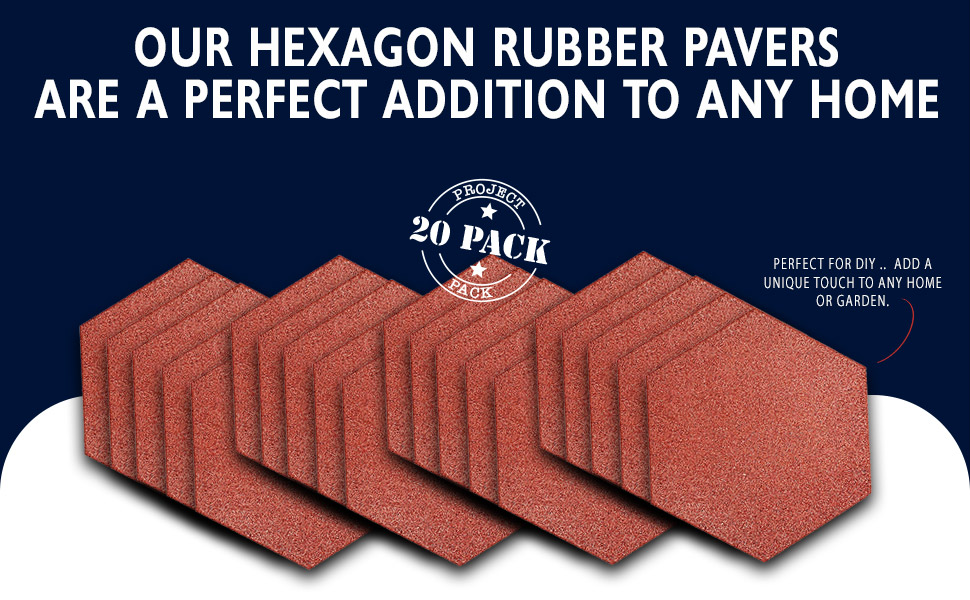 Large front / back rubber paver