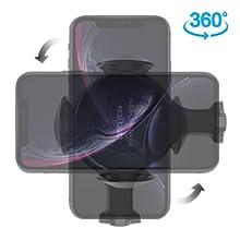 OMOTON Caricatore Wireless per Auto Caricabatteria a Induzione Ricarica 10W/7.5W/5W per Telefoni Qi Compatible con iPhone 11 Pro Max/XS Max/X/XR/8+/8/Samsung Note 10 Plus/Note 10/S10+/S10