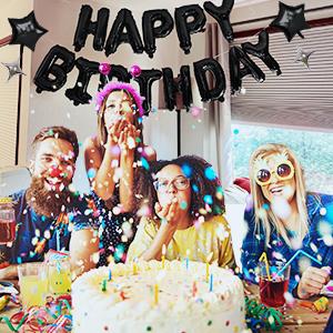 Black Birthday Balloon Kit