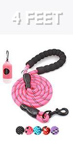 4 feet dog leash
