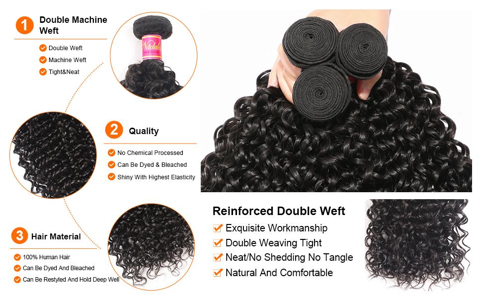 Brazilian curly hair 3 bundles weave