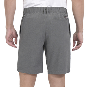shorts with partial elastic waist