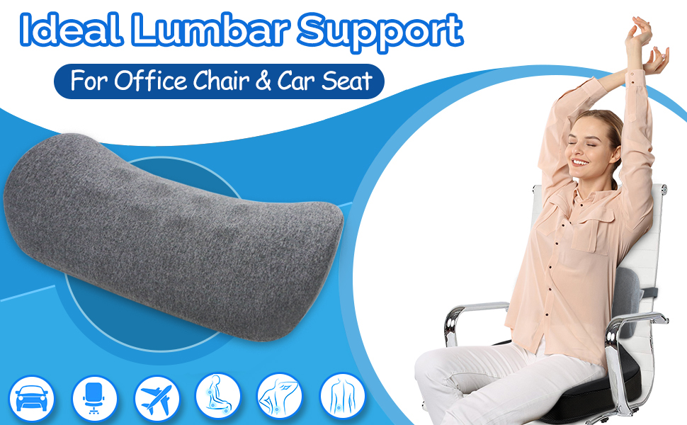 Lumbar support pillow for chair and car seat