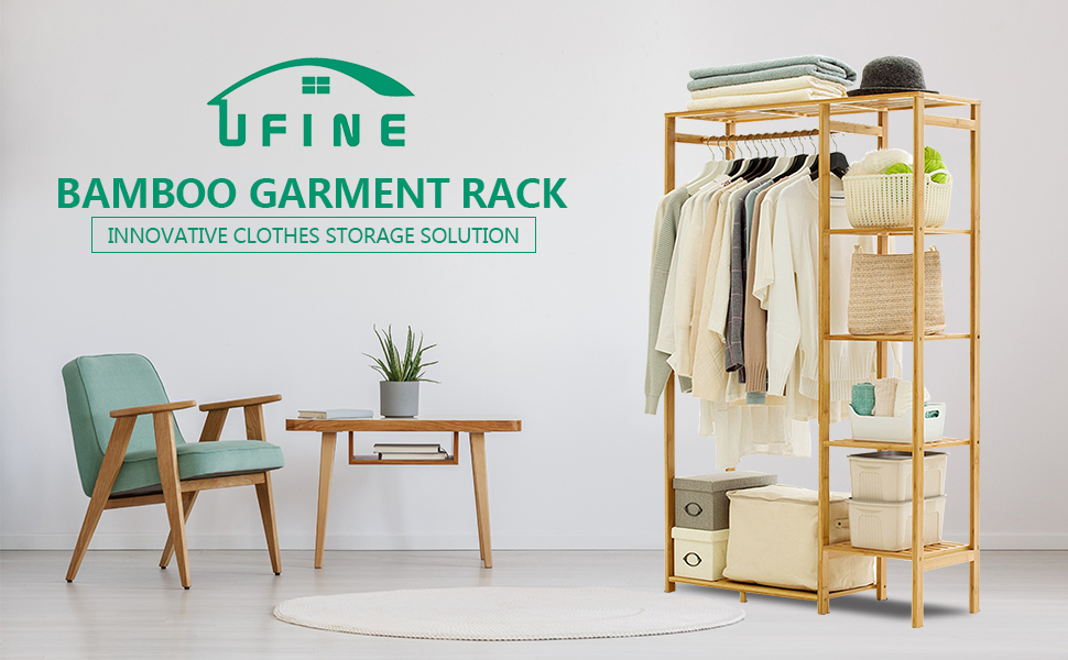 Bamboo garment rack