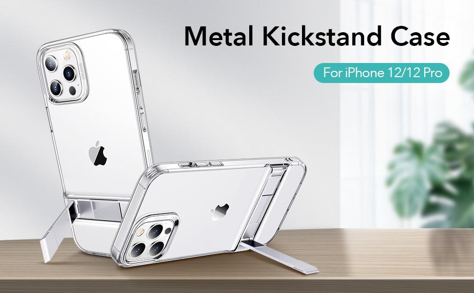 ESR Metal Kickstand Case for iPhone 12/12 Pro
