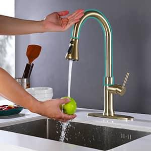 kitchen faucet golden