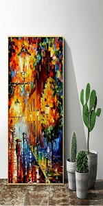 aint by Numbers Landscape w/Impressionist-Style Pastoral Scene Pre-Printed Art-Quality Canvas